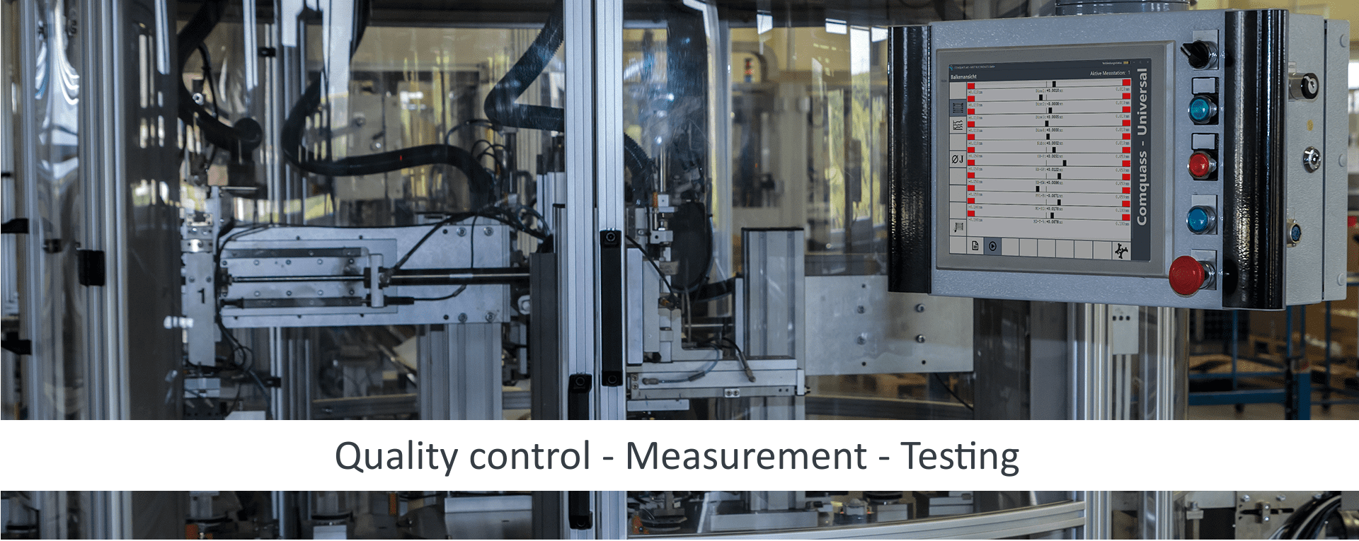 industrial quality assurance (QA) for measuring and testing tasks from manual measuring stations to fully automatic measuring stations
